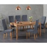 Oxford 150cm Oak Dining Table with Jasper Fabric Chairs
