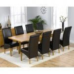 Rustique 150cm Solid Oak Extending Dining Table with Venezia Chairs