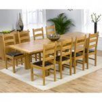 Rustique 150cm Solid Oak Extending Dining Table with Vermont Chairs