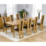 Rustique 150cm Solid Oak Extending Dining Table with Toronto Chairs
