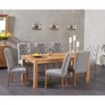 Verona 180cm Solid Oak Dining Table with Candice Fabric Chairs