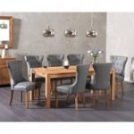 Verona 180cm Solid Oak Dining Table with Cora Faux Leather Chairs