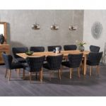 Verona 180cm Extending Solid Oak Table with Imogen Fabric Chairs