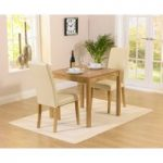 Oxford 80cm Solid Oak Dining Table with Albany Cream Chairs