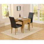 Oxford 70cm Solid Oak Extending Dining Table with Albany Brown Chairs