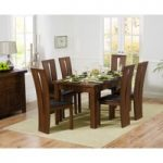 Rustique 150cm Dark Solid Oak Extending Dining Table with Montreal Chairs
