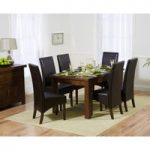 Rustique 150cm Dark Solid Oak Extending Dining Table with WNG Chairs