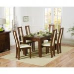 Rustique 150cm Dark Solid Oak Extending Dining Table with Toronto Chairs