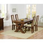 Bordeaux 160cm Dark Solid Oak Extending Dining Table with Toronto Chairs