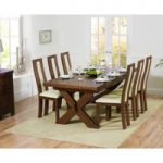Bordeaux 200cm Dark Solid Oak Extending Dining Table with Toronto Chairs