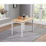 Chiltern 115cm White and Oak Dining Table