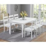Chiltern 150cm White Dining Table Set with Chairs