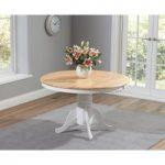 Epsom White and Oak 120cm Dining Table