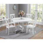 Epsom White 120cm Round Pedestal Dining Set