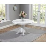 Epsom 120cm White Dining Table