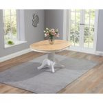 Epsom Oak and White Extending Dining Table