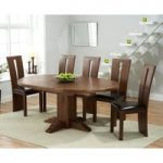 Torino Dark Solid Oak Extending Pedestal Dining Table with Montreal Chairs