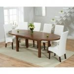 Chelsea Dark Oak Extending Dining Table with WNG Chairs