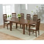 Chelsea Dark Oak Extending Dining Table with Monaco Chairs