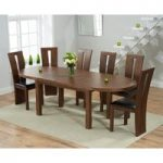 Chelsea Dark Oak Extending Dining Table with 8 Montreal Chairs