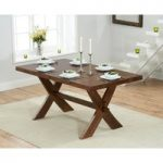 Bordeaux 165cm Dark Oak All Sides Extending Dining Table