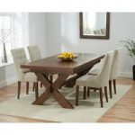 Bordeaux 200cm Dark Solid Oak Extending Dining Table with Pacific Chairs