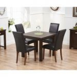 Somerset 90cm Flip Top Dark Oak Dining Table with Albany Chairs