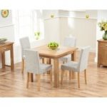 Somerset 90cm Flip Top Oak Dining Table with Mia Fabric Chairs
