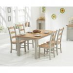 Somerset 130cm Oak and Grey Dining Table with Somerset Chairs