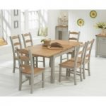 Somerset 130cm Oak and Grey Extending Dining Table with Somerset Chairs