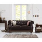 Henbury Chesterfield Brown Leather 2 Seater Sofa