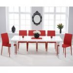 Atlanta 200cm White High Gloss Dining Table with Atlanta Stackable Chairs