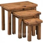 Huari Solid Oak Nest of Tables
