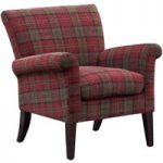Balmoral Check Pattern Accent Chair