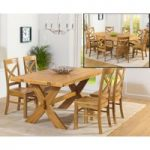 Bordeaux 165cm Oak All Sides Extending Table with Cavendish Chairs