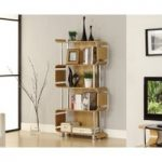 Curve Oak Bookcases