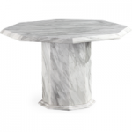 Calabro Octagonal Marble Effect Dining Table