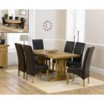 Cavendish 165cm Oak All Sides Extending Table with Cannes Chairs