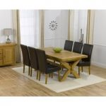 Cheshire 200cm Solid Oak Extending Dining Table with Rustique Chairs