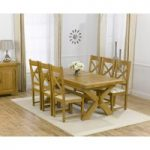 Cheshire 200cm Solid Oak Extending Dining Table with Cheshire Chairs