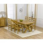 Cheshire 200cm Solid Oak Extending Dining Table with Vermont Chairs