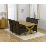 Cheshire 200cm Solid Oak Extending Dining Table with Kentucky Chairs