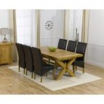 Cheshire 200cm Solid Oak Extending Dining Table with Cannes Chairs