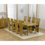 Cheshire 200cm Solid Oak Extending Dining Table with Montreal Chairs