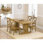 Cavendish 165cm Oak All Sides Extending Table with Cavendish Chairs