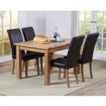 Cheadle 130cm Oak Extending Dining Table with Albany Chairs