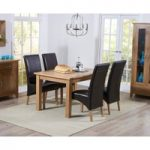 Cheadle 120cm Oak Extending Dining Table with Cannes Chairs