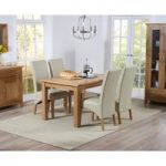 Cheadle 130cm Oak Extending Dining Table with Cannes Chairs