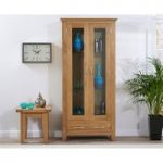 Cheadle 180cm Oak Display Cabinet