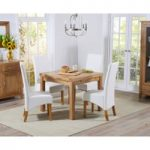 Cheadle 90cm Oak Extending Dining Table with Venezia Chairs